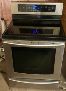 Samsung induction stainless steel glass top stove