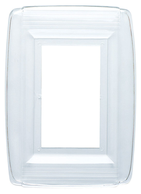 Westinghouse  1 gang Clear  Plastic  Wall Plate  1 pk