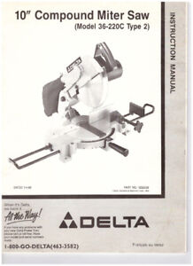 Delta 10 inch compound mitre saw