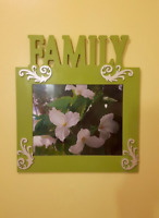 No-glass family frame. Hand-painted