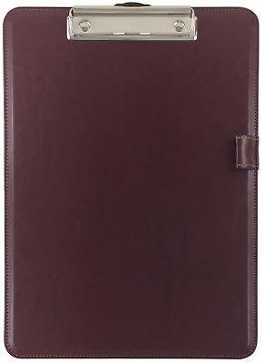 Trade Quest Clipboard Faux Leather Single Tuscan Red