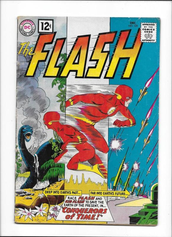 "FLASH #125 [1961 VG+] ""CONQUERORS OF TIME!"""