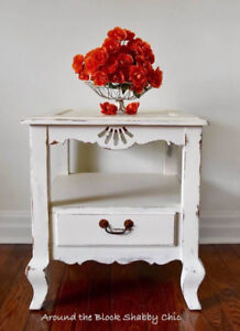 Large shabby chic side table