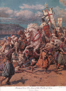 Battle of Acre by Fortunino Matania