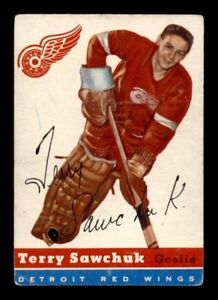 TERRY SAWCHUK ... 1954-55 Topps ... five (5) different available