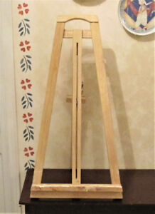 Solid Natural Wood Table Top Artist Easel