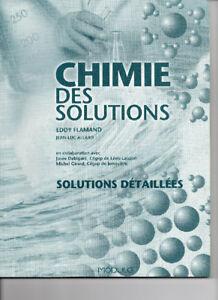 CEGEP-CHIMIE DES SOLUTIONS, EddyFlamand, solutionnaire NEUF