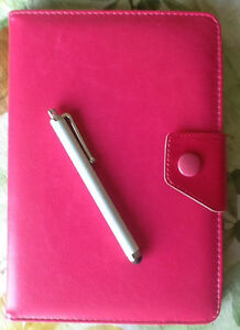 """Pink 7"""" Tablet Case and Stylus Pen"""
