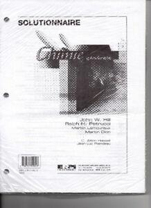 CEGEP-CHIMIE GÉNÉRALE, Hill & Petrucci, solutionnaire NEUF