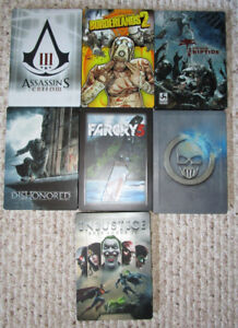 Xbox 360 Steelbook game cases only:  Various titles