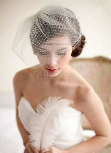 2 Layer Wedding Bridal Net Birdcage Face Veil Fascinator - New