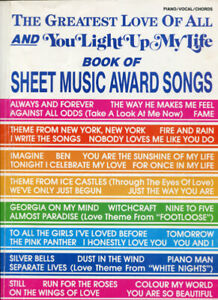 MUSIC BOOK * SHEET MUSIC AWARD SONGS * SOFTCOVER* USED