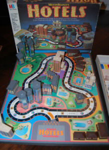 Vintage HOTELS 3D Board Game by Milton Bradley - Nearly COMPLETE