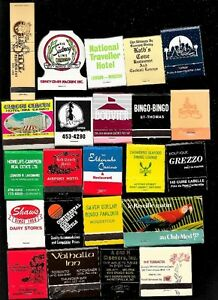 Matchbooks - Approx. 50 Different Saved From A Span Of 30 Years