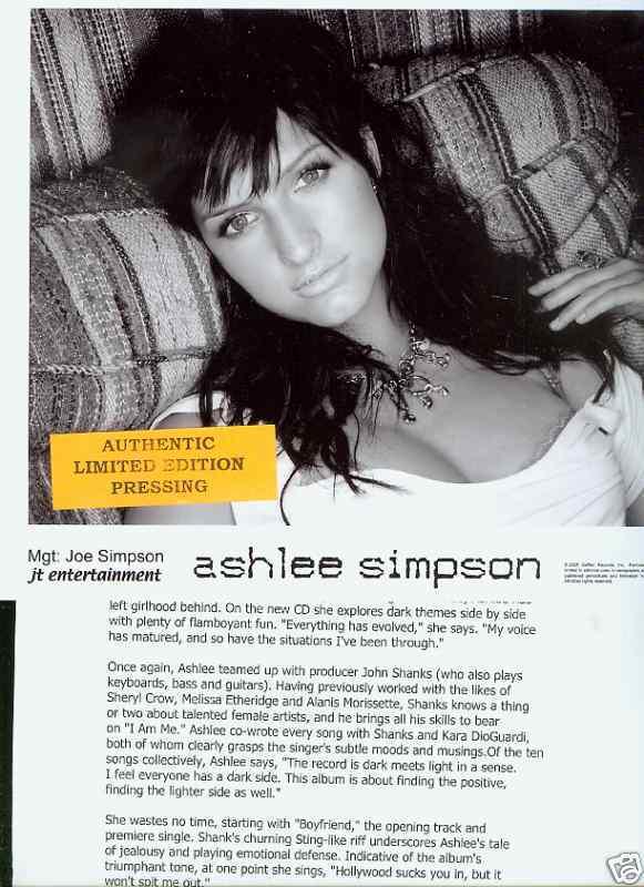 ashlee simpson limited edition press kit