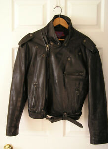 Verducci Vintage Moto Leather Jacket, women's