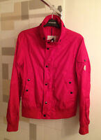 MONCLER Red Pavot Nylon Coat
