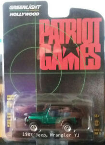 GREENLIGHT 1987 JEEP WRANGLER GREEN MACHINE CHASE