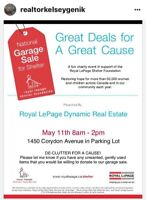 Garage Sale for Charity! 100% Proceeds Donated Locally