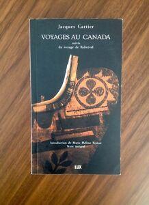 JACQUES CARTIER - Voyages au Canada Lux éditeur