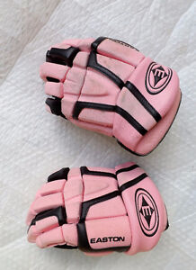 PINK EASTON HOCKEY GLOVES