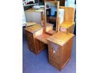Handcrafted pine dressing table