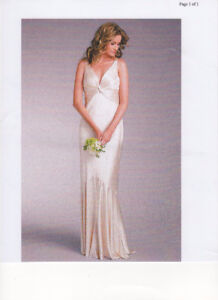 Ivory Satin Sleeveless Floor Length Dress