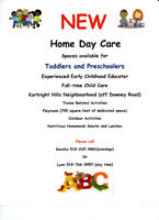 New Home Daycare Opening