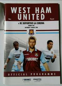 West Ham United Football Programme