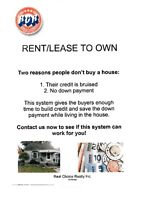 Rent\Lease to Own Specialist