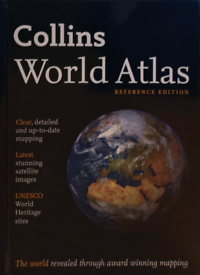 Collins world atlas reference edition.