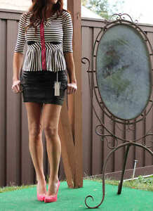 NWT-DIESEL-Osarok-Lambskin-Leather-mini-skirt-S-S-2010-27-520-SOLD-OUT