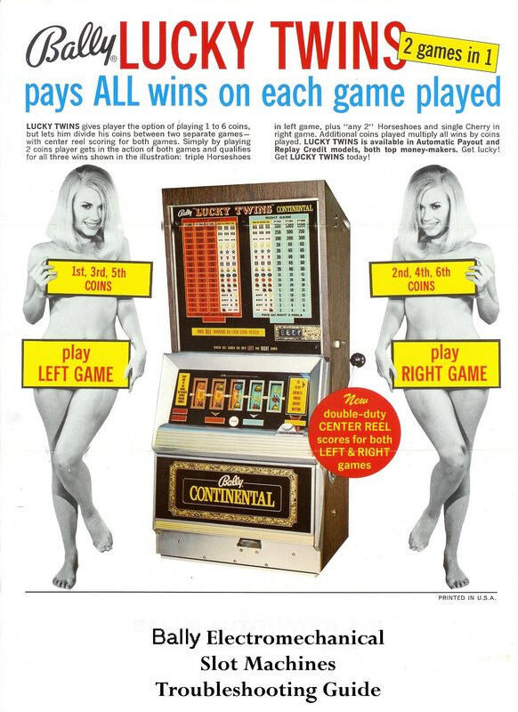 BALLY Electromechanical SLOT MACHINE Troubleshooting OWNERS Guide MANUAL