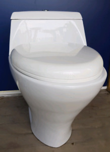One piece dual flush toilet  $40