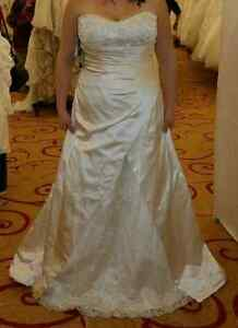 Wedding Dress - JAI Size 16 Ivory Satin