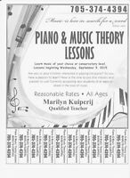 Piano and music theory lesson teacher