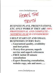 EXPERT BUSINESS PLANS, DOCUMENTS, ETC. - EXCELLENT PRICES!