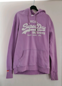 Womens purple superdry hoodie