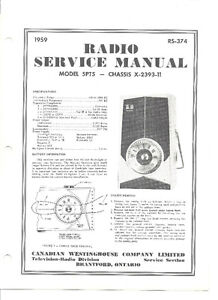 1959 WESTINGHOUSE TRANSISTER RADIO SERVICE MANUAL