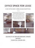 Office Space For Lease - available Nov 1, 2015