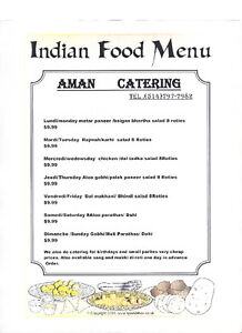 AMAN INDIAN FOOD CAT\ERING West Island Greater Montréal image 1