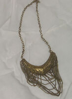 Glam Brass Crescent Shaped Necklace - NEW