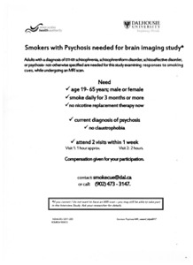 Tobacco smoking study: Participants with psychosis needed