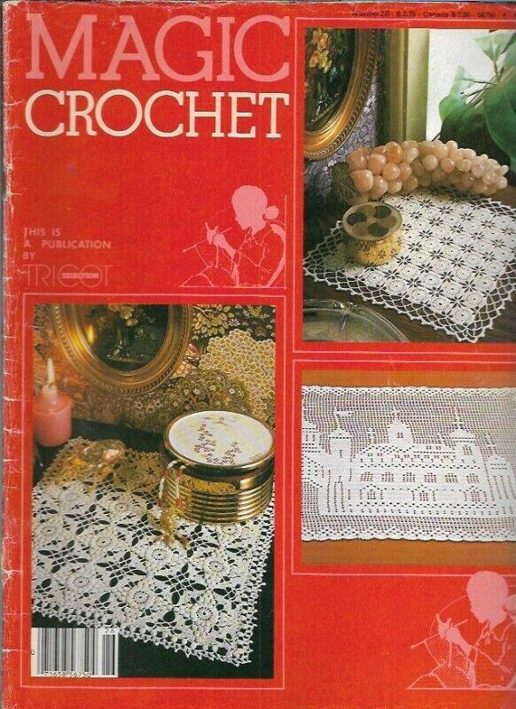 Magic Crochet No 26 Aug 1983 Jasmine Centerpiece Lacy Edgings Starfish More - $19.99