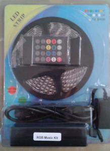 RGB multicolor LED music control light kit