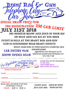 Telephone City Car Show is BACK and we are looking for vendors!!