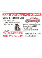 AAA TOP DRIVING SCHOOL BRAMPTON