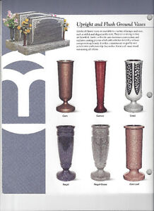 LOVELY SELECTION OF GRAVESTONE/MONUMENT VASES