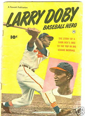 Larry Doby Baseball Hero G Photo Cover Bill Ward art