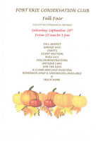 Save the Date Sept  26th - Fort Erie Conservation Club Fall Fair